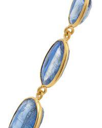 Pippa Small Metallic 18-karat Gold Kyanite Earrings
