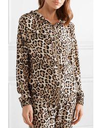 ATM Multicolor Hooded Leopard-print Silk-charmeuse Jacket