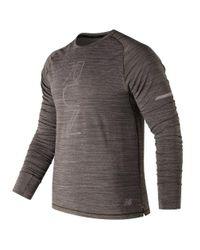 New Balance Seasonless Long Sleeve in Gray für Herren