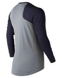 New Balance - Blue Seamless Asym Right for Men - Lyst