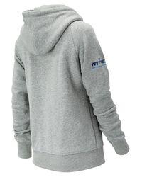 New Balance Gray Nyc Marathon Essentials Pullover Hoodie