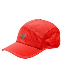 New Balance - Red 5 Panel Performance Hat 5 Panel Performance Hat for Men - Lyst
