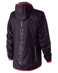 New Balance - Blue Ultralight Packable Jacket - Lyst
