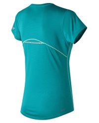New Balance - Blue Accelerate Short Sleeve Graphic - Lyst