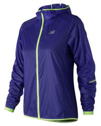 New Balance - Blue Nyc Half Ultralight Packable Jacket - Lyst