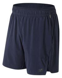 New Balance Blue Ms81051 Transform 2-in-1 Short for men