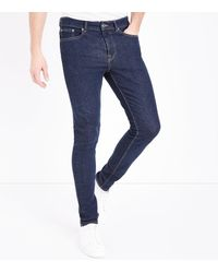 New Look Blue Navy Stretch Skinny Jeans for men