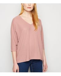 New Look Mid Pink Brushed Fine Knit Batwing Jumper