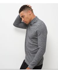 New Look   Black Twist Cotton Roll Neck Jumper for Men   Lyst