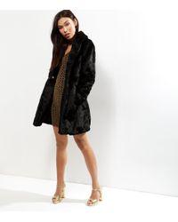 New Look Black Faux Fur Coat