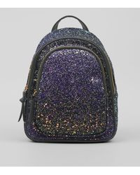 New Look Purple Glitter Mini Backpack