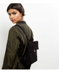 New Look | Black Suedette Mini Backpack | Lyst