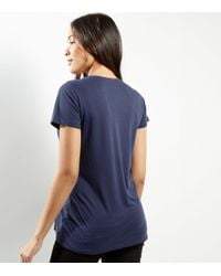 New Look Maternity Blue Knot Side T-shirt
