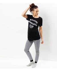New Look - Maternity Black Weekend Appreciation Club Pyjama Set - Lyst