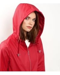 New Look Red Matte Anorak