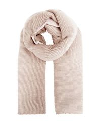 New Look Pink Ribbed Ombre Scarf
