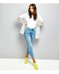 New Look Tall White Transparent Anorak