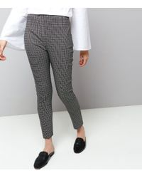 New Look Black Abstract Print Bengaline Trousers