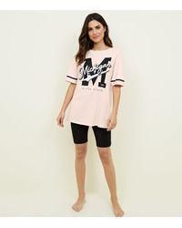 New Look Pink Michigan Print Pyjama Set