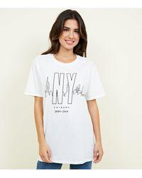 New Look White Friends Skyline T-shirt