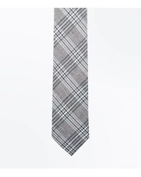 New Look Gray Light Grey Prince Of Wales Tie for men