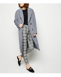 New Look Pale Blue Double Breasted Formal Coat