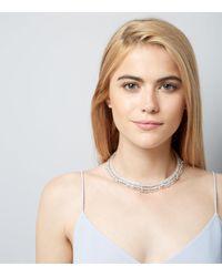 New Look - Multicolor Crystal Gem Drop Torque Necklace - Lyst