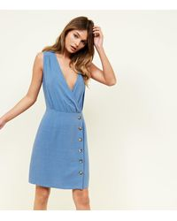 183080a4e8 Gallery. Previously sold at  New Look · Women s Wrap Dresses Women s Blue  ...