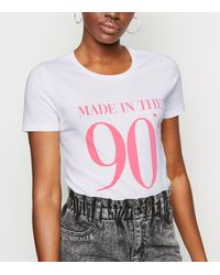 New Look White Made In The 90s Slogan T-shirt