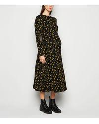 New Look Maternity Black Floral Empire Waist Dress