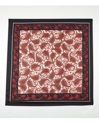 New Look Pink Paisley Print Satin Square Scarf