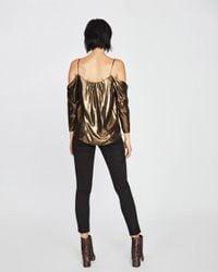 Nicole Miller Metallic Foiled Glitter Schuler Top