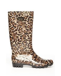 Nicole Miller - Multicolor Rainy Day Leopard-Print Boots - Lyst
