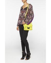 Nicole Miller Yellow Prima Crossbody Bag