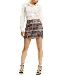 Nicole Miller - Multicolor Panama Tiles Mini Skirt - Lyst