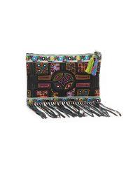 Nicole Miller - Multicolor Panama Tiles Fringe Clutch Bag - Lyst