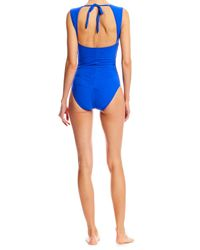 Nicole Miller - Blue Felicity One Piece Swimsuit - Lyst