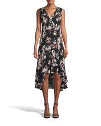Nicole Miller Black Baroque Silk Sleeveless Dress
