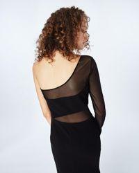 Nicole Miller Black Harriet Jersey Gown