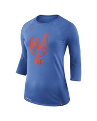 a few days away latest discount affordable price Lyst - Nike Oklahoma City Thunder Dry Women's 3/4 Sleeve Nba T ...