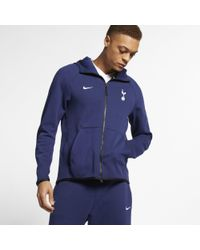 Nike Blue Tottenham Hotspur Tech Fleece Full-zip Hoodie for men