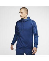 Maglia da calcio per allenamento con cappuccio Dri-FIT Repel Academy di Nike in Blue da Uomo