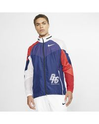 Track jacket da running BRS di Nike in Blue da Uomo