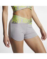 Nike Gray Pro Intertwist Damenshorts (ca. 8 cm)