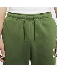 Nike Green Sportswear Swoosh Trousers for men