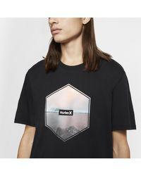 T-shirt Hurley Dri-FIT Hex di Nike in Black da Uomo