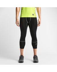 Nike Gray Pro Hypercool - Compression Three-quarter for men