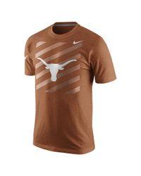 Nike - Orange College Varsity Tri-blend (texas) Men's T-shirt for Men - Lyst
