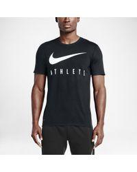 Nike - Black Swoosh Athlete Men's T-shirt for Men - Lyst