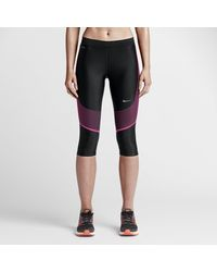 Nike Black Power Speed Women's Running Capri Pants